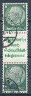Deutsches Reich Zusammendruck S 210.1 Gestempelt Mi. 55,- - Se-Tenant