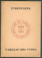 LIVRE BILINGUE Tableau Des Types Typentafel, Par Léo De Clercq 1970 , 12 Pg -- .  Etat Neuf. - MX-10 - Philatelie Und Postgeschichte
