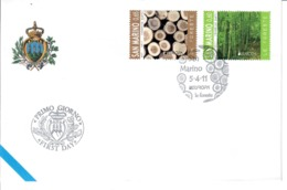 SAN MARINO 2011 - EUROPA - LE FORESTE - FDC - FDC