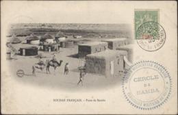 YT Groupe Sénégambie Et Niger 5 CPA Soudan Français Poste Bamba + Cachet Cercle Bamba AOF Territoire Militaire Niger - Senegambia E Niger (1903-1906)