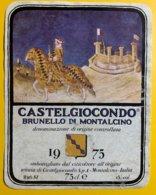 12084 - Castelgiocondo 1975 Brunello Di Montalcino - Other