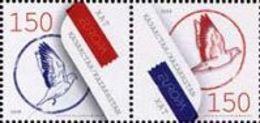 Kazakhstan 2008.  Europe. Europa - CEPT. The Letter. Mi. # 616-617Zd. MNH - Europa-CEPT