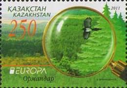 Kazakhstan 2011.  Europe. Europa - CEPT. Forest. Mi. # 705. MNH - 2011