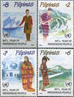 Ref. 314066 * NEW *  - PHILIPPINES . 1993. INTERNATIONAL YEAR OF NATIVE PEOPLES. A�O INTERNACIONAL DE LOS PUEBLOS INDIGE - Filippine