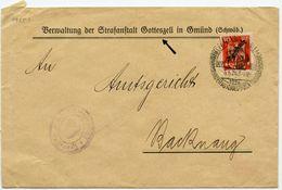 DT.REICH 1926, DIENST-Nr. 107 AUF BRIEF AUS DER STRAFTANSTALT GOTTESZELL - Officials