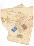 LOT FISCAUX ACTES DE DETTES BAGNERES DE BIGORRE ( Basses Pyrénées) 1867  1878 - Fiscales
