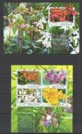 TG074 2015 TOGO TOGOLAISE FLORA FLOWERS ORCHIDS LES ORCHIDEES KB+BL MNH - Orchideeën