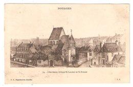 CPA 18 BOURGES L'Ancienne Abbaye St Laurent Et St Bonnet D'après Gravure Ancienne - France