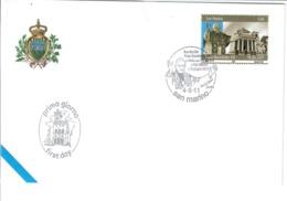 SAN MARINO 2011 - VISITA DI PAPA BENEDETTO XVI - FDC - FDC