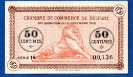Belfort   -  50 Centimes 1918 --  TTB - Chambre De Commerce