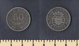 Sao Tome And Principe 50 Centavos 1951 - Sao Tome And Principe