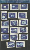 HISTORY OF SPACE EXPLORATION ESPACE RUIMTEVAART SPUTNIK  ROCKET FUSEE RAKET SATELLITES URSS Matchbox Labels - Matchbox Labels