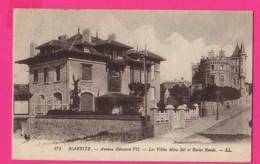 CPA (Réf: Z 2541) BIARRITZ (64 PYRÉNÉES ATLANTIQUES) Avenue Edouard VII Les Villas Miras Sol Et Roche Ronde - Biarritz