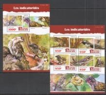 TG107 2015 TOGO TOGOLAISE FAUNA BIRDS HONEYGUIDES LES INDICATORIDES KB+BL MNH - Oiseaux
