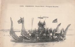 *** CAMBODGE ***  CAMBODGE  Pnom-Penh Pirogues Royales - Neuve/unused TB - Cambodge