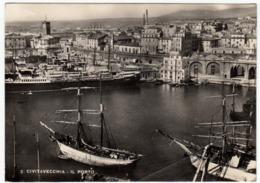 2 - CIVITAVECCHIA - IL PORTO - 1951 - NAVI - BARCHE - Civitavecchia