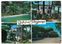 SALUTI DA FREGENE - FIUMICINO - ROMA - 1972 - VEDUTE - Fiumicino