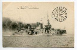 """MARINE CACHET """" Paquebot TOULON  Sur Mer  8 Juin 1913 """"   Cuirassé  à Tourelles CARNOT     D16  2019 - Warships"""