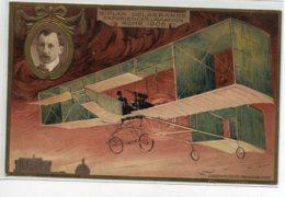 AVIATION Avion Biplan DELAGRANGE Expérience Rome 1908 GAUFREE Publicite LU Biscuits Lefevre Utile   D16 2019 - ....-1914: Precursors