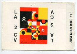 AUTOMOBILE  La 2 CV Citroen Carton Invitation Fete 40 Em Anniversaire Jeudi 12 Mai 1988 Mairie LEMPDES Illu    D16 2019 - PKW