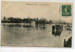 02 VIC Sur AISNE Inondations De 19110 Péniche Batellerie Edit Nougarede - Timb 1910   D16 2019 - Vic Sur Aisne