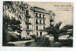 06 CANNES Boulevard Carnot L'HOTEL BEAU SOLEIL  écrite Le 31 Déc 1923 Voir Dos    D16 2019 - Cannes