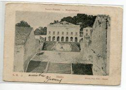 97 MARTINIQUE SAINT PIERRE Carte Rare Le Théatre S.M 7 Edit Dugas Nantes  - écrite En 1904 Timb    D16  2019 - Martinique