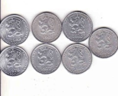 Tschechoslowakei - Tchécoslovaquie 7 Different 10 Halier, Haler 1974, 1976, 1977, 1979, 1980, 1981, 1982 - Czechoslovakia