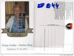 Fanny Godin Wed. PardonJacques- Oudste Belg - Hoei Huy 27 Mei 1902 -110 J Zoutleeuw -2012- Eeuweling +7/9/2014 ZOUTLEEUW - Zoutleeuw