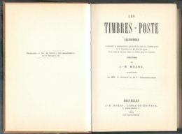 MOENS J.B., Les TIMBRES-POSTE Illustrés (1840-1864), Réédition Bolaffi De 1969 (1ère éd. En 1864), Torino, 1969, 148 Pag - Philatélie Et Histoire Postale