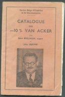 Belgique Catalogue - 10 %Van Acker Par R Berlingin 85 Pages  - OD-7 - Belgique