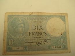 10 Franc Minerve - 1871-1952 Antichi Franchi Circolanti Nel XX Secolo