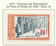 PIA - FRAN -1979:Giornata Del Francobollo - La Posta Di Parigi Nel 1908  - (Yv 2037) - Giornata Del Francobollo