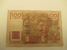 100 Franc Jeune Paysan - 1871-1952 Antichi Franchi Circolanti Nel XX Secolo