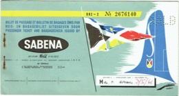 Ticket/Billet D'Avion. SABENA.  Beirut/Brussels/Void. 1961. - Billets D'embarquement D'avion