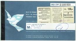 Ticket/Billet D'Avion. SABENA.   Brussels/Nice/Brussels. 1967. - Billets D'embarquement D'avion