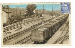 34 COLOMBIERS  La Gare Triage Nombreux Wagons Train - France