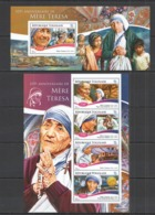 TG170 2015 TOGO TOGOLAISE ART FAMOUS PEOPLE 105TH ANNIVERSARY MARIA TERESA KB+BL MNH - Mother Teresa