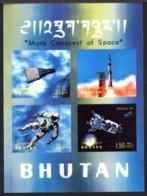 Bhutan 1970. Man 's Conquest, Space. Gemini, Saturne,  , Apollo 13.  MNH - Espacio