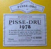 12101 - Beaujolais Pisse-Dru 1978 - Beaujolais