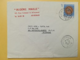 1970 BUSTA INTESTATA ALGERIA ALGERIE BOLLO ARTIGIANATO OBLITERE ANNULLO GUYOTVILLE STORIA POSTALE - Algeria (1962-...)