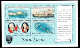 St. Lucia 1982 Battle Of The Saints Ships MS, MNH, SG 620 (SHI) - Boten