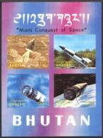 Bhutan 1970. Man 's Conquest, Space. Verne. Fusee, Vostok, Gemini.  MNH - Espacio