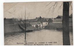 STEENDORP RUPTURE DES DIGUES DE L'ESCAUT 12 MARS 1906- 54 MAISON SOUS EAU - Temse