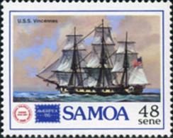 Ref. 370513 * NEW *  - SAMOA . 1986. AMERIPEX-86 INTERNATIONAL PHILATELIC EXHIBITION . AMERIPEX 86. EXPOSICION FILATELIC - Samoa