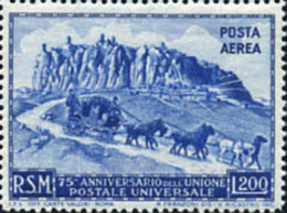 Ref. 29771 * NEW *  - SAN MARINO . 1950. 75th ANNIVERSARY OF UPU. 75 ANIVERSARIO DE LA UPU - San Marino