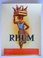 Etiket Etiquette Rhum Femme Créole Avec Bouteilles Vernie Imp. Chavanne & Dodevey St. Etienne - Rhum
