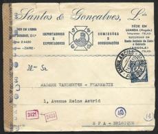 N° 543B Sur Lettre Obl. AMBULANCIAS AVENIDA GARE Du 14-OUT-42 Vers Spa Bande GEÖFFNET (Lot Nic 827) - Marcophilie