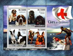 Ref. 236620 * NEW *  - SAO TOME AND PRINCIPE Islands . 2008. RESCUE DOGS. PERROS DE SALVAMENTO - Sao Tomé Y Príncipe