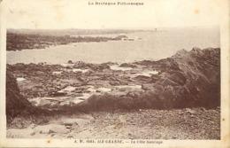 Dpts Div.-ref-AN386- Côtes D Armor - Ile Grande - La Côte Sauvage - Carte Bon Etat - - Autres Communes